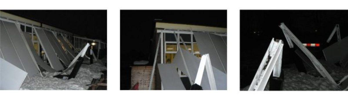 Collapsed Aluminium Canopy