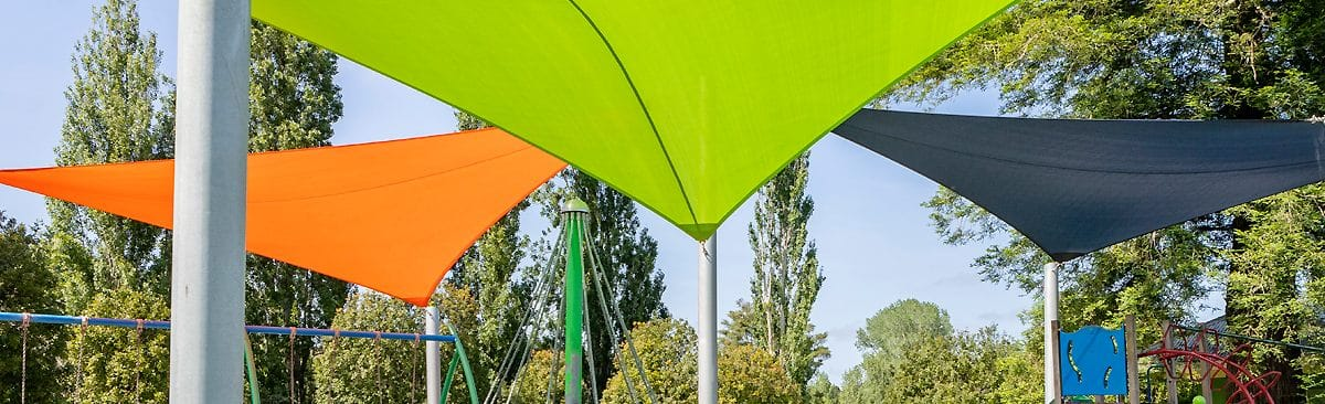 Green and Orange Shade Sails