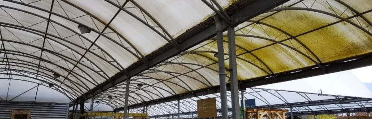 Damaged Fabric Canopy