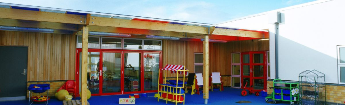 Timber Frame School Canopy